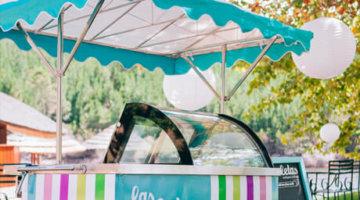 Retro Ice Cream Cart, Vintage Ice Cream cart