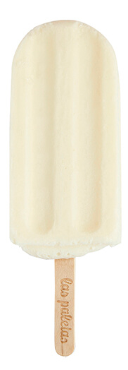 Natural and fresh Coconut lemonade lollies by Las Paletas Ice Cream