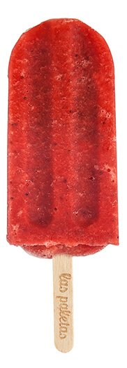 Whole fresh Strawberry Sorbet lollies by Las Paletas Ice Cream