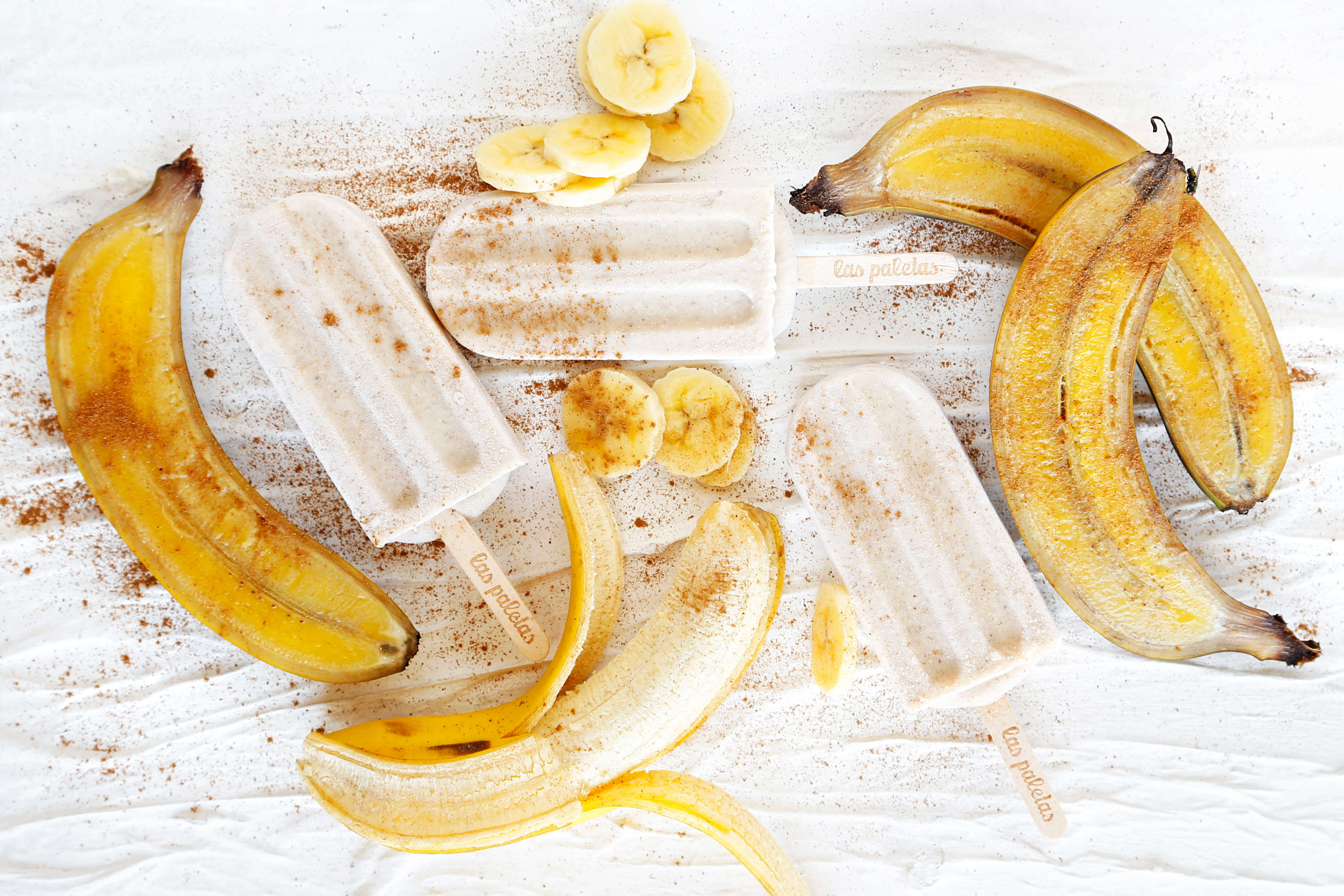 Golden Roasted whole Banana lolies by Las Paletas Ice Cream