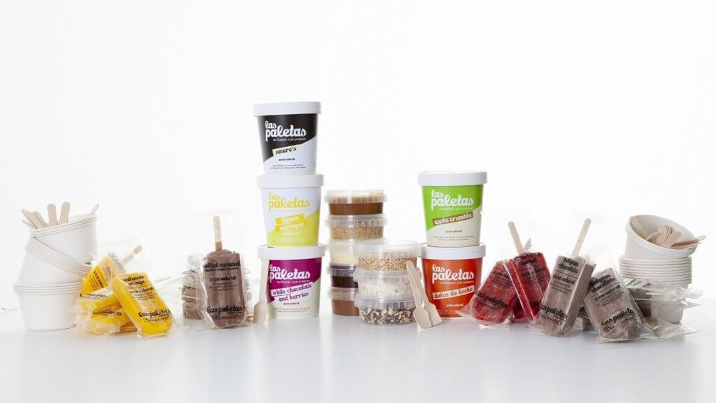 Gourmet Variety of Ice Cream and Popsicles including Ice Lollies by Las Paletas